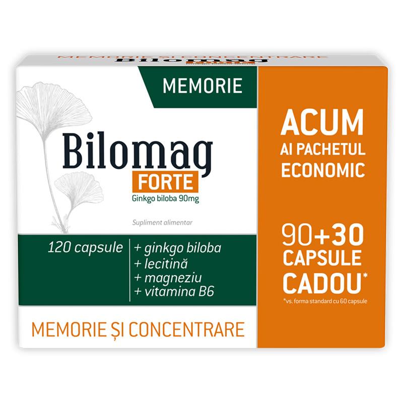 BILOMAG FORTE MEMORIE 90MG (6030 GRATUIT), ginko biloba, lec