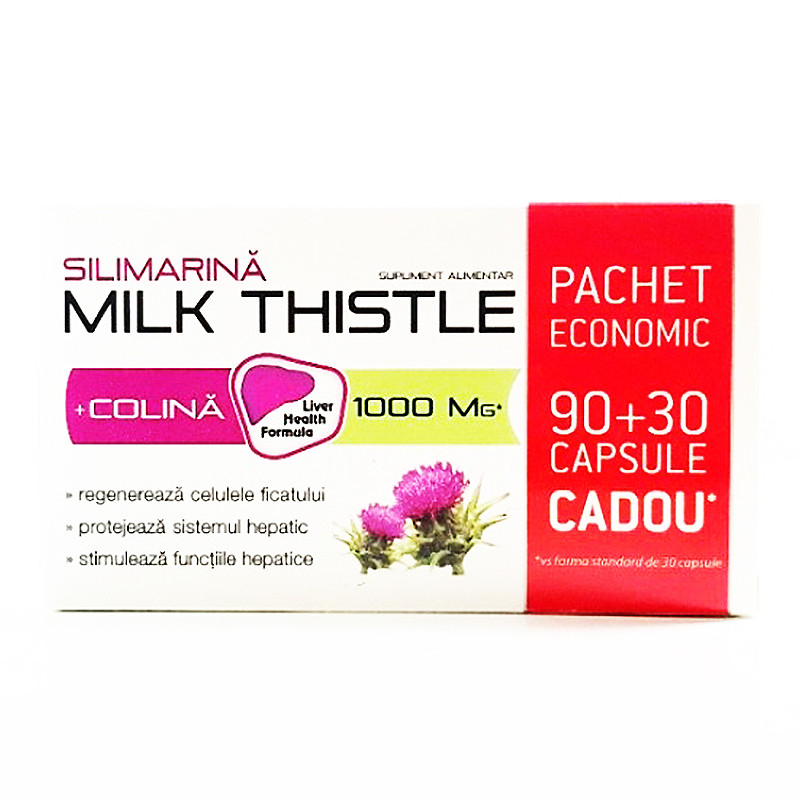 MILK THISTLE SILIMARINA (30 CPS CADOU), armurariu, flavonoid