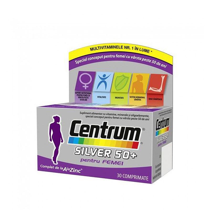 CENTRUM SILVER 50 FEMEI, vitamine si minerale, revigorarea o