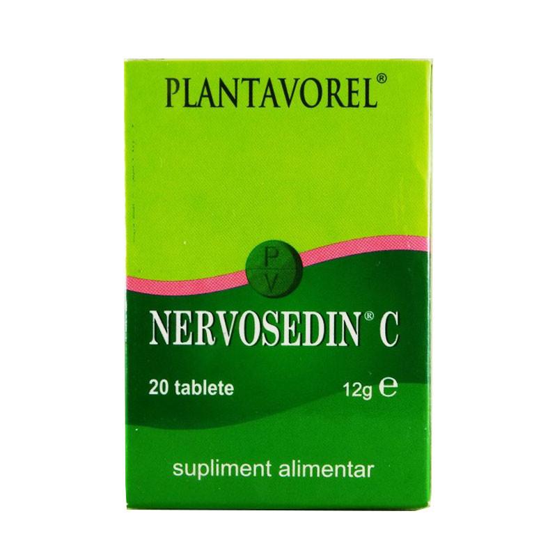 NERVOSEDIN C, natural, sedativ, CPR, 20 buc, PLANTAVOREL