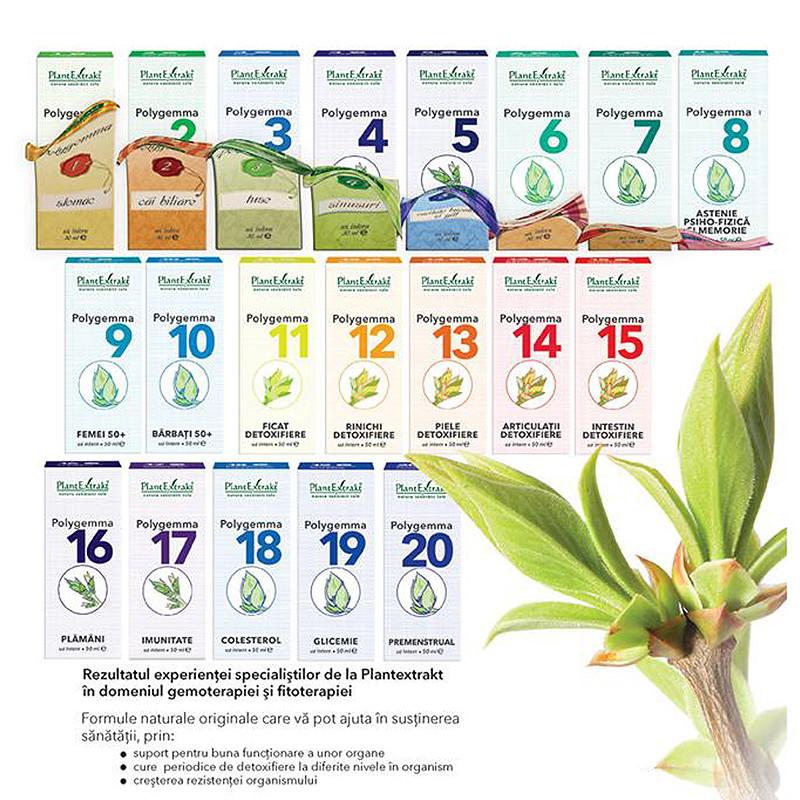 Polygemma 15 intestin detoxifiere 50ml - PLANTEXTRAKT