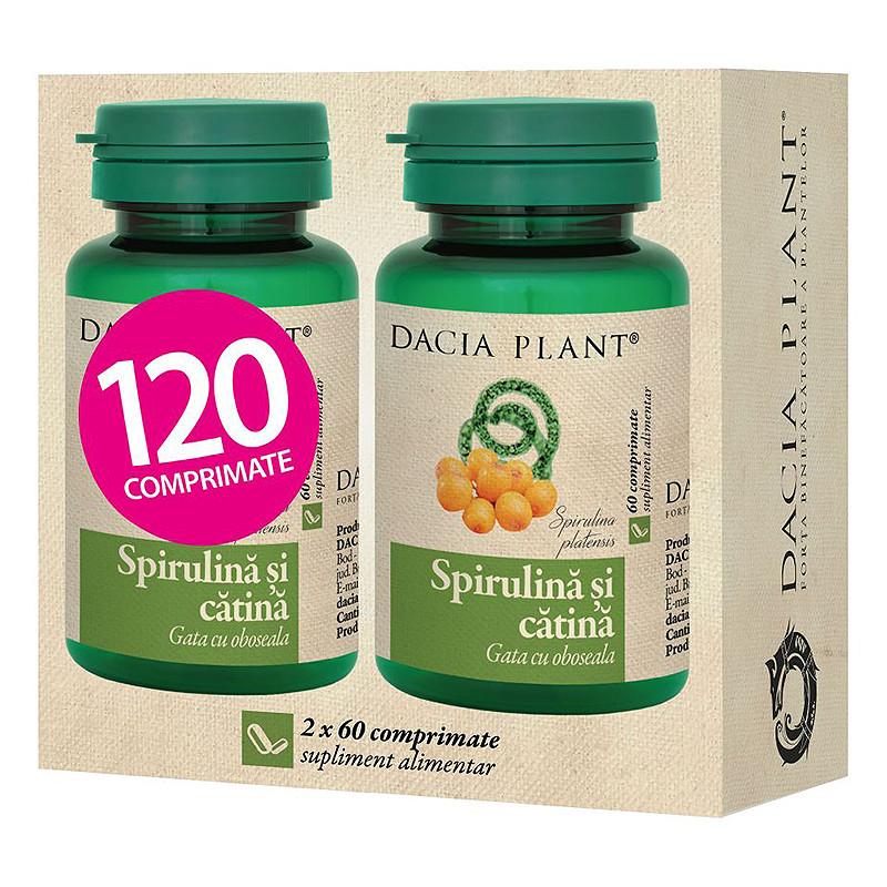 SPIRULINA SI CATINA, 1+1 PROMO, natural, vitaminizare si rem