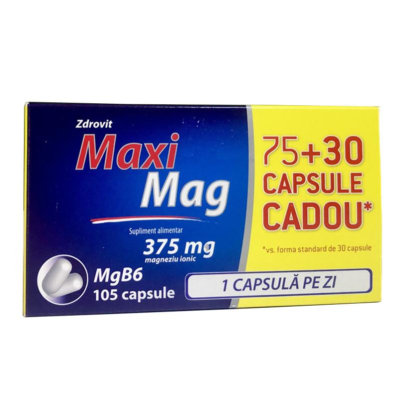 MAXIMAG 375MG, magneziu, vitamina B6, comprimate, 105 buc, Z