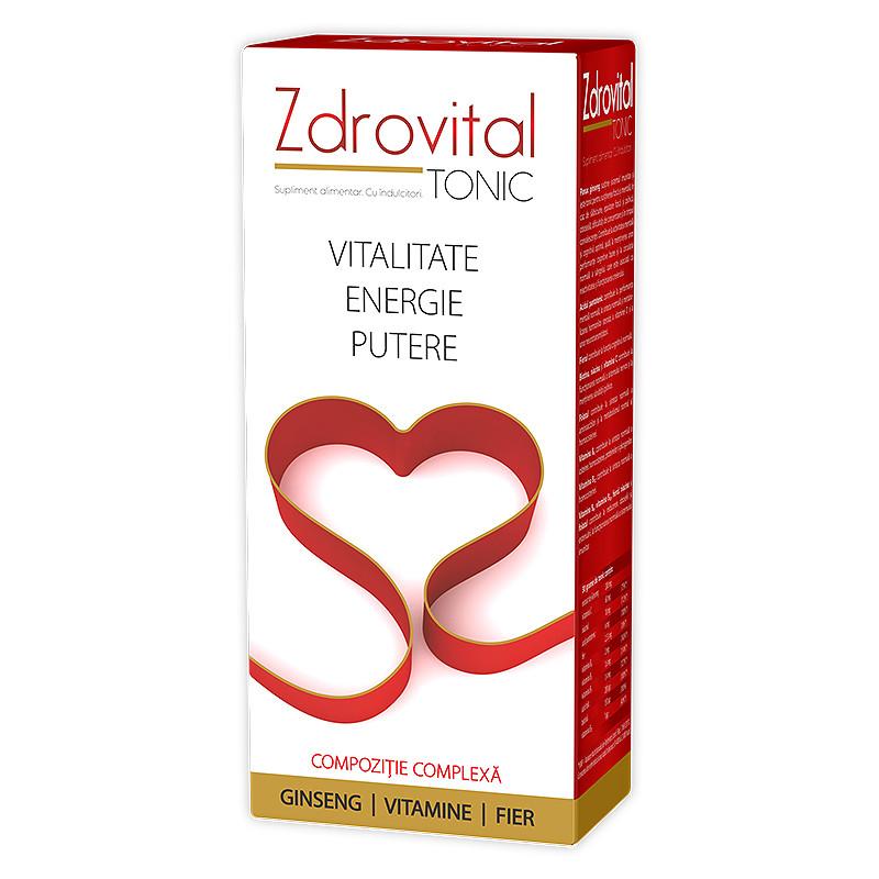 ZDROVITAL TONIC SIROP, vitamine, minerale, gingeng, FLACON,