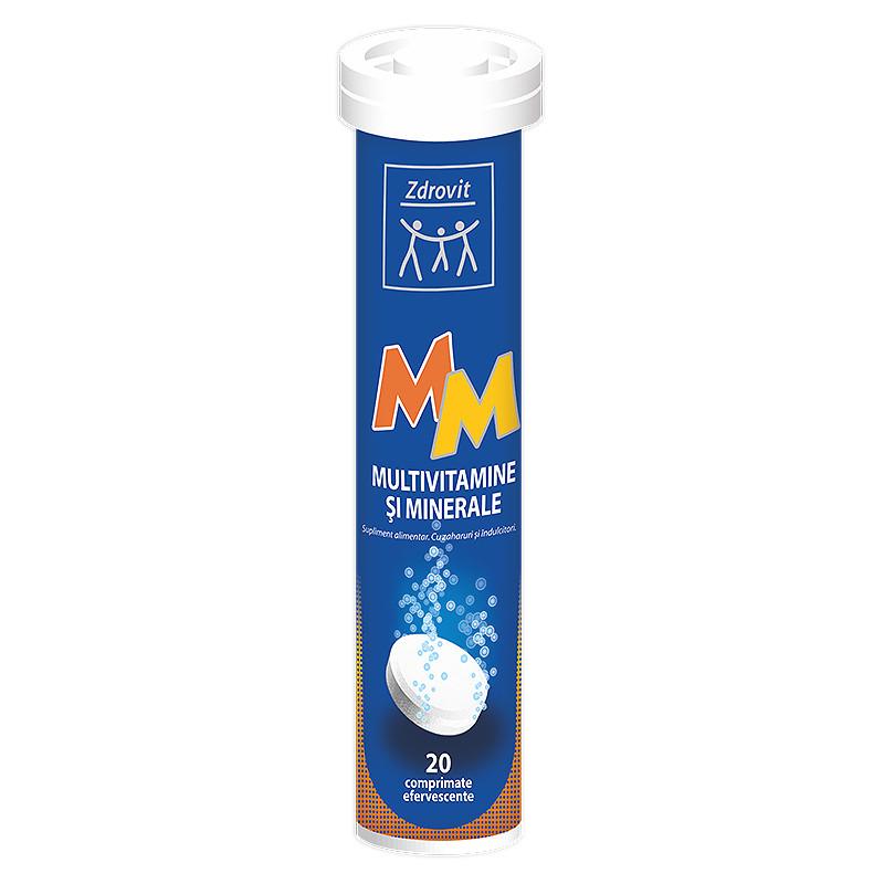 MULTIVITAMINE  MINERALE, comprimate efervescente, 20 buc, ZD