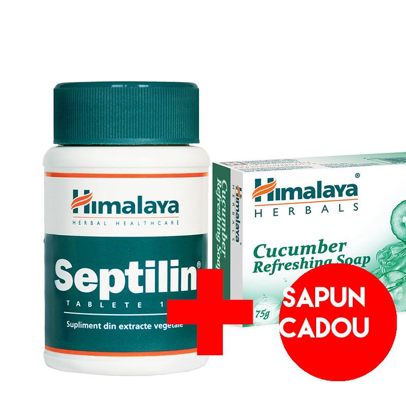 PACHET PROMO HIMALAYA SEPTILIN 100 CPR + SAPUN CADOU, natura