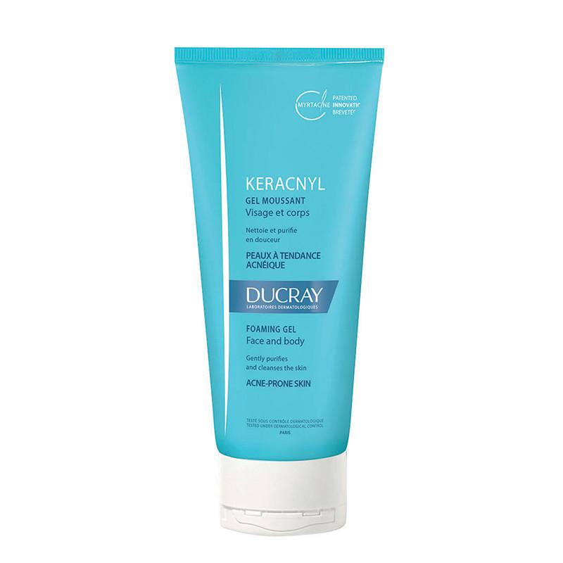DUCRAY KERACNYL GEL SPUMANT PURIFIANT, curatarea pielii acne