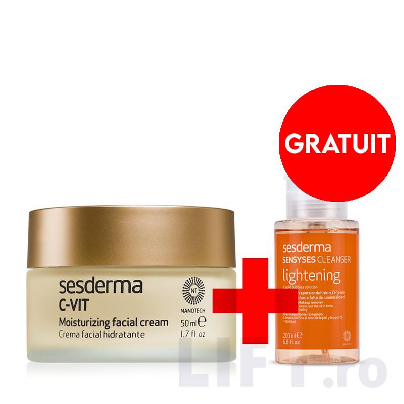 PACHET PROMO C-VIT CREMA HIDRATANTA FATA 50 ML + SENSYSES CL