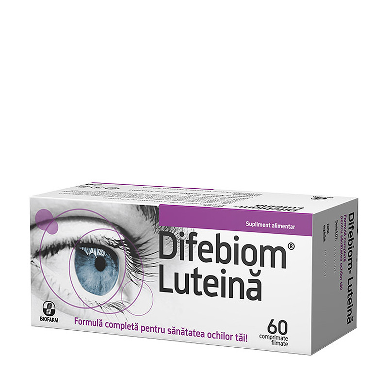 DIFEBIOM LUTEINA, ochi, imbunatateste functia retinei, reduc