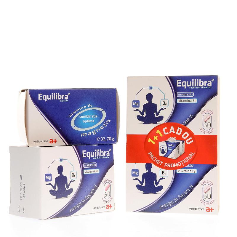 PACHET PROMO, EQUILIBRA 60 CPS, 1+1 GRATIS, magneziu, vitami