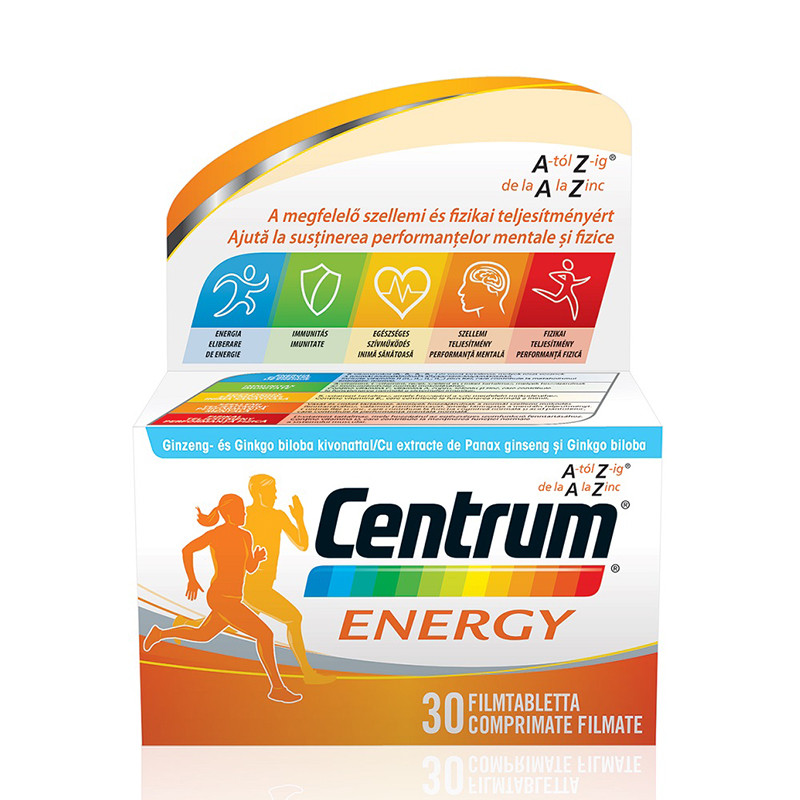 CENTRUM ENERGY, multivitamine si minerale, performanta fizic