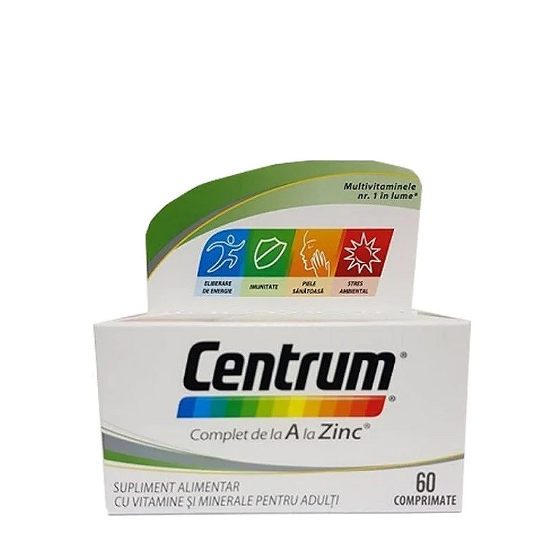 CENTRUM COMPLET A ZINC, multivitamine si minerale, energie,