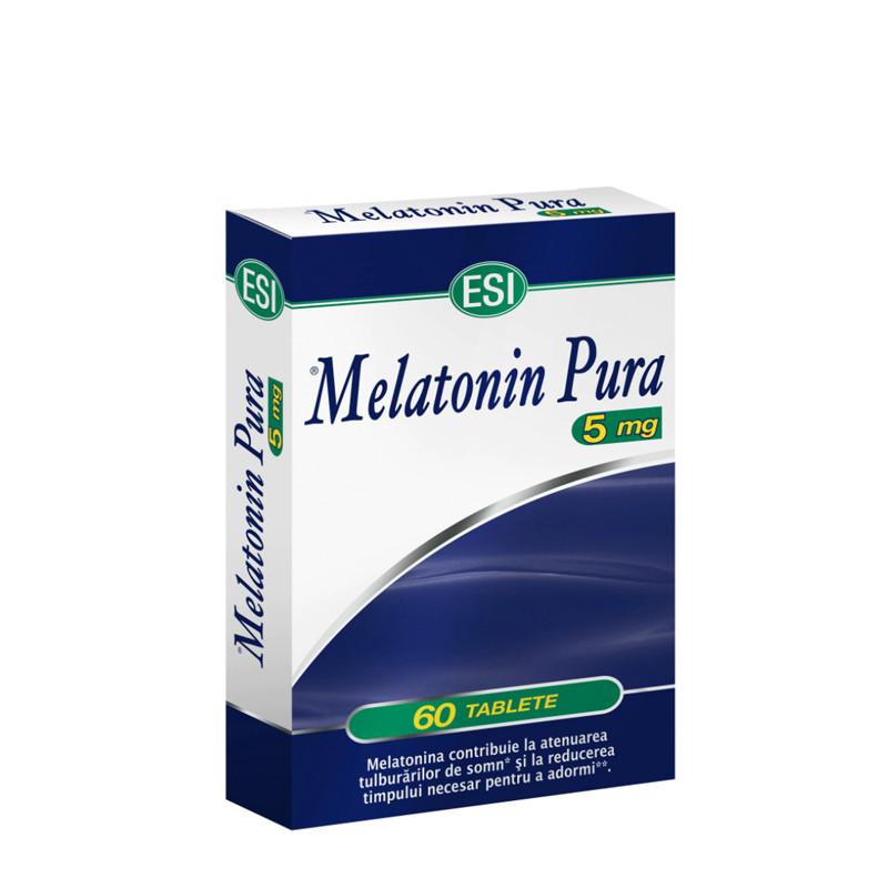 MELATONINA PURA 5MG, melatonina, tulburari de somn, adaptare