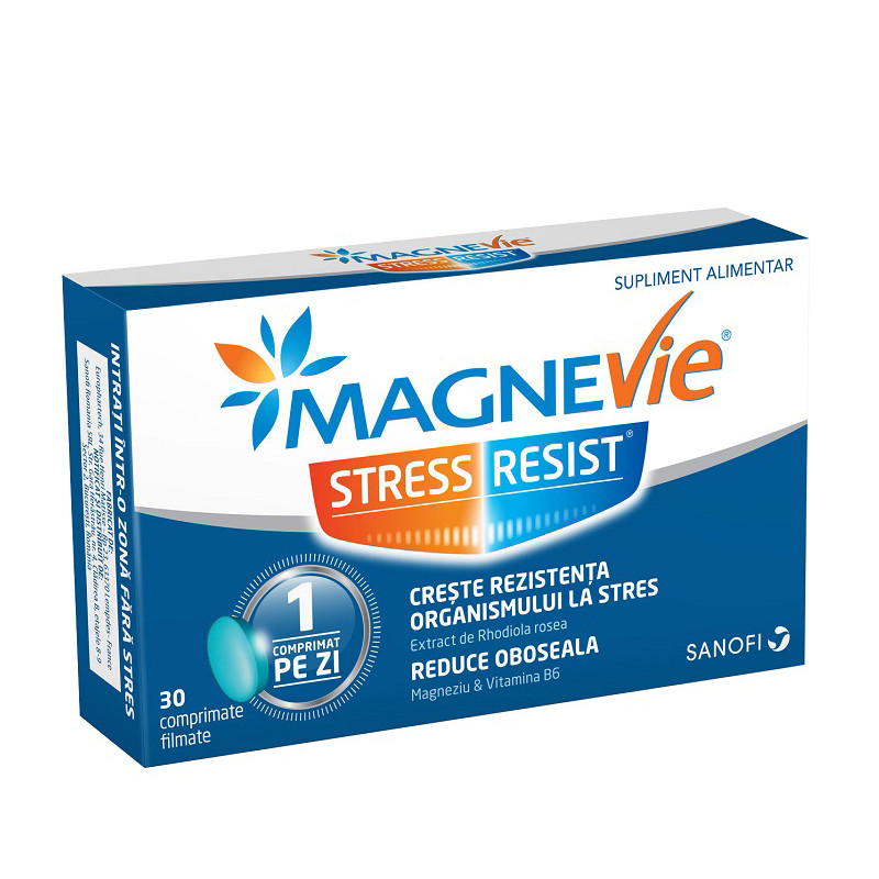 MAGNEVIE STRESS RESIST, stres, epuizare psihica, comprimate,