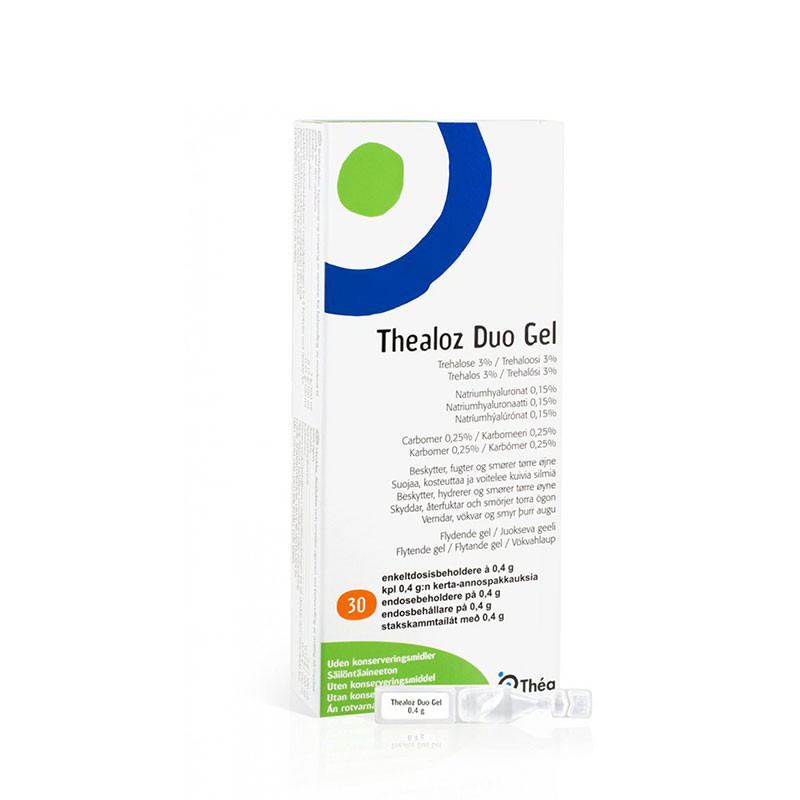 THEALOZ DUO GEL 0.4G, thehaloza, acid hialuronic, hidratarea