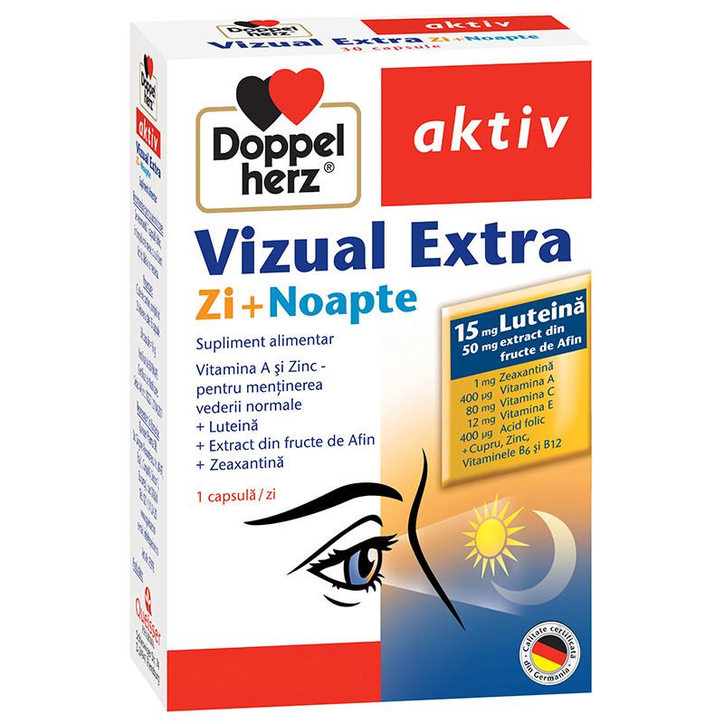 DOPPELHERZ AKTIV VIZUAL EXTRA, luteina, vitamine, imbunatati
